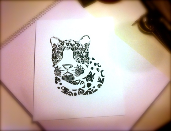 """Leopard"" limited edition print for sale"